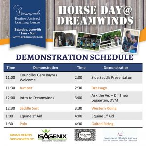 Demo schedule sign